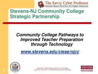 Stevens-NJ Community College Strategic Partnership