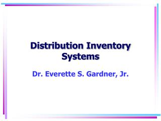 review of literature on inventory management ppt