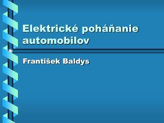 Elektrické poháňanie automobilov
