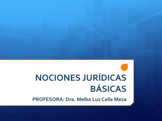NOCIONES JUR�DICAS B�SICAS
