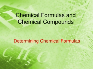 Chemical Formulas  Chemical Compounds