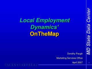 Local Employment Dynamics' OnTheMap