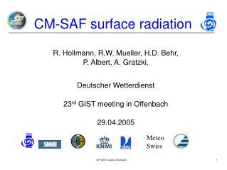 CM-SAF surface radiation