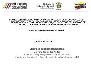 Ministerio de Educación Nacional  Universidad  de los Andes