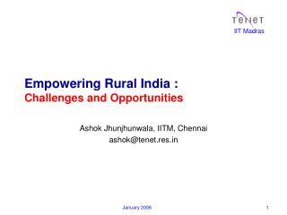 Empowering Rural India :  Challenges and Opportunities