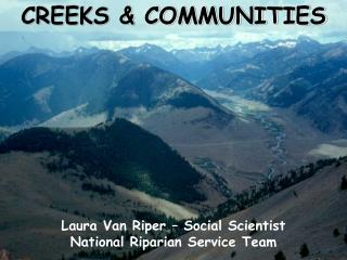 CREEKS & COMMUNITIES