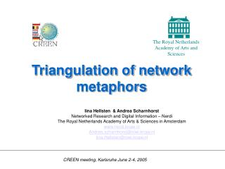 Triangulation of network metaphors