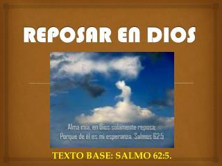 REPOSAR EN DIOS