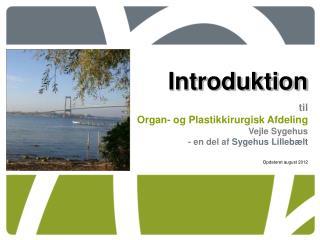 Introduktion til Organ- og Plastikkirurgisk Afdeling Vejle Sygehus - en del af  Sygehus Lillebælt
