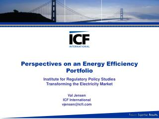 Perspectives on an Energy Efficiency Portfolio