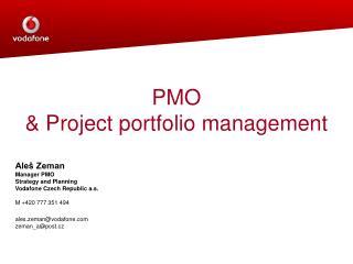 PMO  Project portfolio management