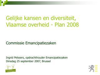 Gelijke kansen en diversiteit, Vlaamse overheid - Plan 2008