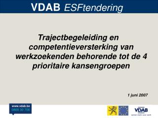 VDAB  ESFtendering