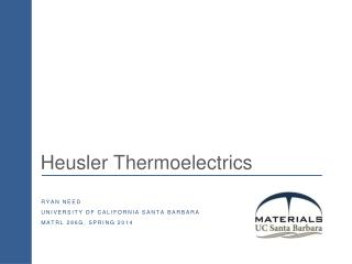 Heusler Thermoelectrics
