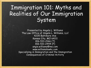 Immigration 101: Myths and Realities of Our Immigration System