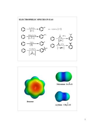 ELECTROPHILIC SPECIES IN EAS