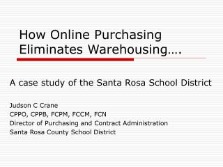 How Online Purchasing Eliminates Warehousing….