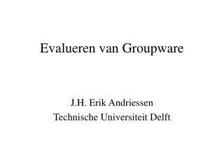 Evalueren van Groupware