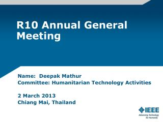 R10 Annual General Meeting