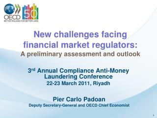 New challenges facing financial market regulators: A preliminary assessment and outlook