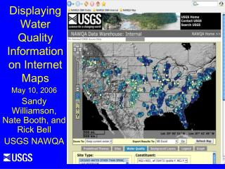 Displaying Water Quality Information on Internet Maps