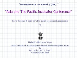 """"""" Innovation & Entrepreneurship (I&E)  """""""