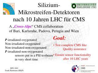 Silizium- Mikrostreifen-Detektoren  nach 10 Jahren LHC  für CMS