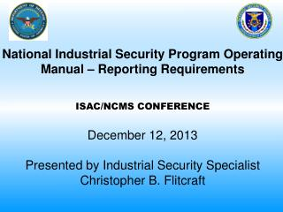 National Industrial Security Program Operating Manual – Reporting Requirements