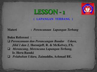 LESSON - 1