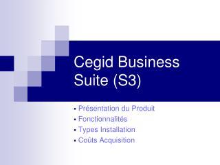 Cegid Business Suite (S3)