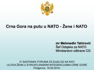 Crna Gora na putu u NATO - Žene i NATO