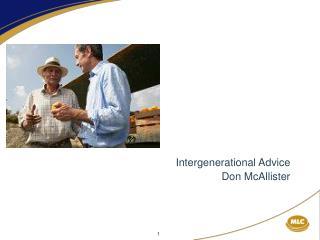 Intergenerational Advice Don McAllister