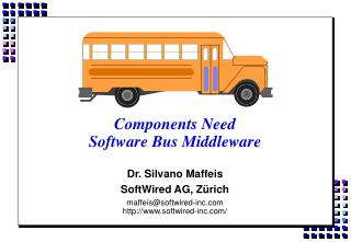 Components Need  Software Bus Middleware