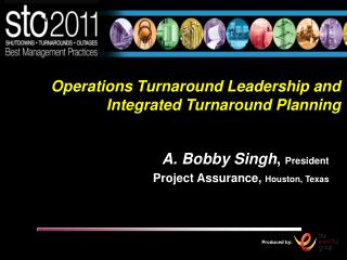 Operations Turnaround Leadership and Integrated Turnaround Planning