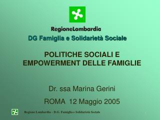 DG Famiglia e Solidarietà Sociale