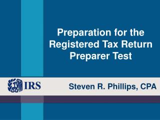 Preparation for the Registered Tax Return Preparer Test
