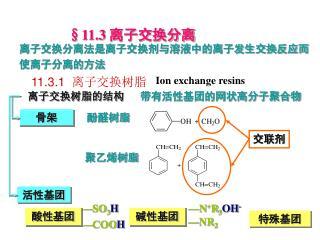11.3.1   离子交换树脂