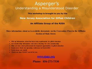 Asperger�s Understanding a Misunderstood Disorder