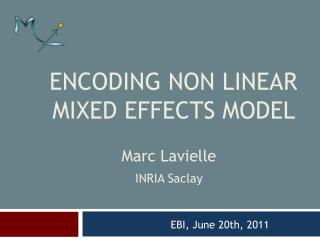 ENCODING NON LINEAR MIXED EFFECTS MODEL