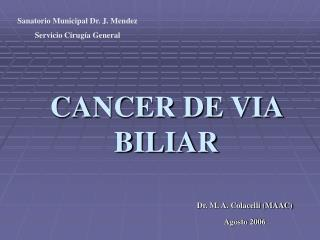 CANCER DE VIA BILIAR