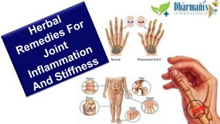 Herbal Remedies For Joint Inflammation And Stiffness