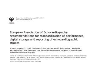 European Association of Echocardiography ( EAE )  misija: