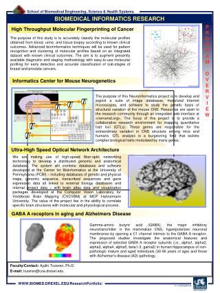 BIOMEDICAL INFORMATICS RESEARCH