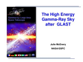 The High Energy Gamma-Ray Sky after  GLAST Julie McEnery NASA/GSFC