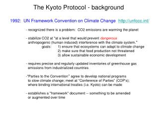 The Kyoto Protocol - background