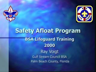Safety Afloat Program
