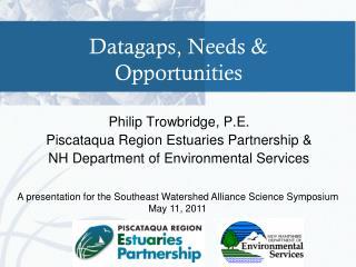 Datagaps, Needs & Opportunities