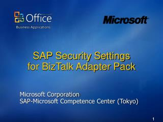 SAP Security Settings  for BizTalk Adapter Pack