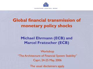 "Workshop  ""The Architecture of Financial System Stability"" Capri, 24-25 May, 2006"