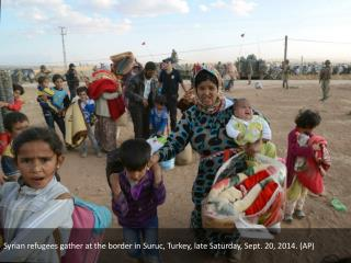 Syrian Kurdish refugees flooding into Turkey